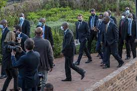 visiting south africa france s macron