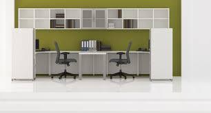 quad double l desk with hutch