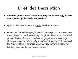 Business Brief Example Business Idea Brief Template Business Brief Example Knowing Gallery