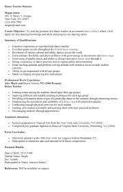 Dance teacher resume for a job resume of your resume 3