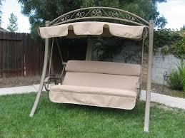 image of amazing swing bench with canopy