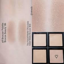 elf contour kit swatches. too faced chocolate soleil bronzer \u003d elf palette \ contour kit swatches .