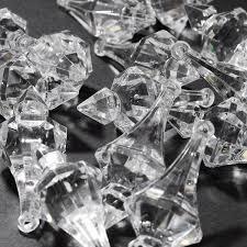 acrylic chandelier drops large clear pendants 3 inch table ter confetti decoration 40pcs