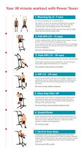 Fast Workout With Power Tower Power Tower Workout 30