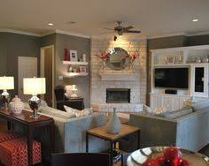 family room furniture layout. furniture placement mount the tv above fire place for even more shelf space family room layout