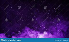 Abstract Purple Smoke Mist Fog On Particles Embers