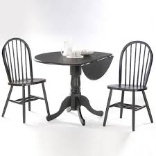 international concepts black wood spindle back windsor dining chair