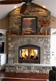 lovely two sided wood burning fireplace on indoor outdoor