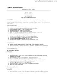 Resume Writing Examples Resume Template Sample