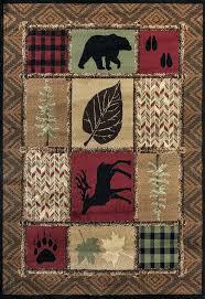 deer area rugs cabin area rugs deer bear paw prints rustic patch block cabin lodge area deer area rugs