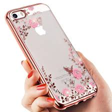 Floveme Flora Bling Soft TPU Clear Secret Garden Flowers Phone Back Cover Case For Iphone 6plus 7 8 Plus X XS XR Max Samsung S8 S9 Note 9 Cases Cell