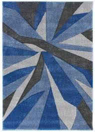 hand carved shatter blue grey rug