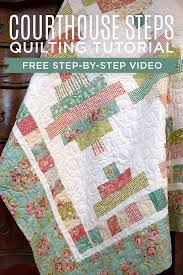 455 best Quilting Tutorials images on Pinterest | DIY, Bag ... & Make a Jelly Roll Courthouse Steps Quilt with Jenny Doan in her YouTube  Tutorial! Adamdwight.com