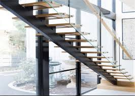 mono stringer contemporary glass staircase steel and wood staircase design