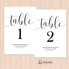 Table Numbers Printable Pdf Template Wedding Invitation