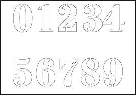 Printable Number Stencils 1 10 Universalmidi