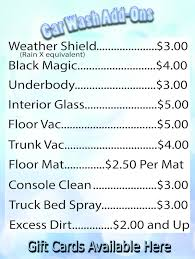 over 65 days tuesday and sunday car wash only platinum package 3 off gold package 2 off