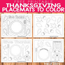 To make thanksgiving placemats for my kids that they can use in addition to those printable activities that we've done in the past. Free Printable Thanksgiving Placemats To Color Thanksgiving Placemats Thanksgiving Coloring Pages Free Thanksgiving Printables