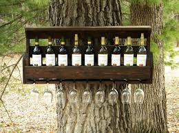 Reclaimed Wood Wine Cabinet Wine Rack Christmas Gift Unique Wine Rack Pallet Wine Rack