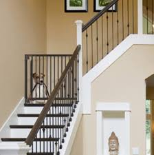 image of dog gate for stairs indoor