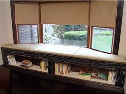 Image Hacks Cushioned Window Bench And Bookshelf Hgtvcom Cushioned Window Bench And Bookshelf Hgtv