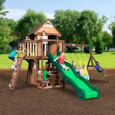 backyard discovery mount triumph all cedar swing set play tanglewood