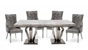 amour 1 8m marble dining table with 4 chairs