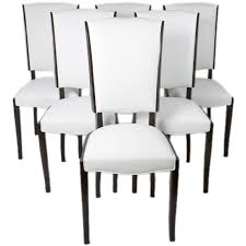 set of six french art deco dining chairs at 1stdibs pertaining to decorations 4