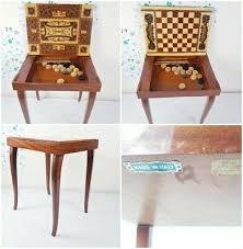 1900 1950 wood folding card table