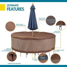 h round table and chair set cover
