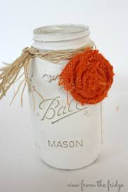 Decorating With Mason Jars And Burlap Fall Mason Jar Centerpieces and how to make burlap rosettes 37