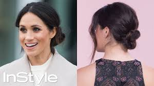 how to master meghan markle s messy bun beauty instyle