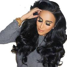 loose wave Lace Front Wigs With Baby Hair Human 150 Density Remy - Full