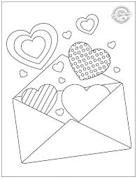 Printable valentines coloring pages, sheets and pictures for kids. Valentine Heart Coloring Pages Sweet Valentine S Day Printable