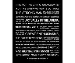 Theodore Roosevelt Quotes Arena Welkombijdeheeren