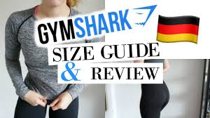 Gymshark Size Chart Gymshark Size Guide Review Gymshark Sportklamotten