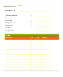 Recipe Template For Word Blank Recipe Template Blank Recipe Template For Word Printable