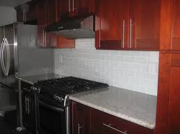 Red Kitchen Tile Backsplash Kitchen Subway Tile Backsplash Quartzite Countertops Are Quite