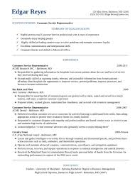 Customer Service Resume Template Free Summary For Resume Examples Customer Service Customer Service 15