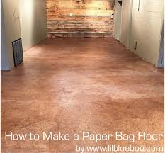 how to make a brown paper bag floor tutorial