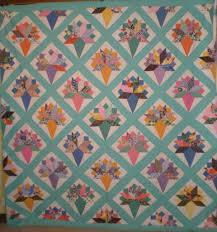 Vintage 1960-New Quilts & 5975_aqua_bride's_bouquet_small.jpg, Antique Quilt 5975 Adamdwight.com