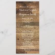 Templates For Wedding Programs Rustic Country Barn Wood Wedding Program Template