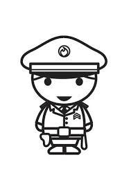 Kleurplaat Agent Kleurplaten Politie Kleurplaten En Kinderen Leren