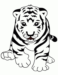 Small Picture Coloring Printable Coloring Cute Tiger Coloring Pages 51 Cute in
