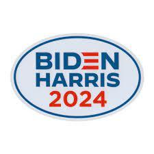 Oval Political Campaign Magnet, Joe Biden Kamala Harris 2024 Logo Magnet,  6