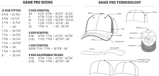 The Game Headwear Size Chart The Gp500 Gamechanger Custom Baseball Caps Elevation Sports