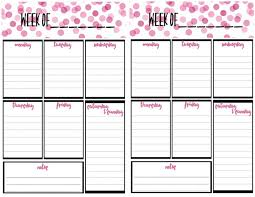 Callendar Planner Free Weekly Calendar Planner Printable Full And Half Size