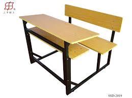 wooden school student desk double seater bench