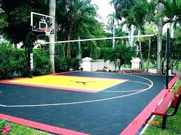 sport court cost per square foot cost to build a basketball court homemade basketball court backyard