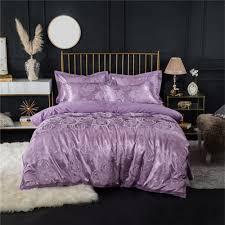 fancy 2018 new bedding sets full queen size cotton satin jacquard duvet cover set hyar